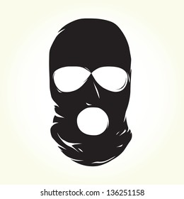 Terrorist mask isolated vector