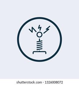 Tesla coin machine icon vector illustration graphic design