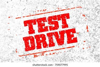 Test Drive Headline. Trendy vector illustration