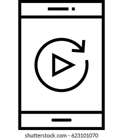Test on Mobile Vector Icon