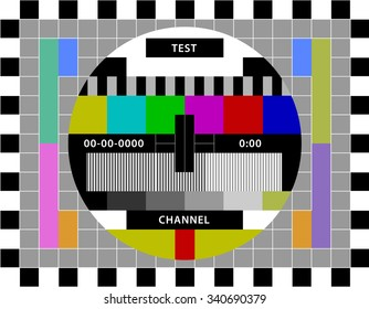 Test screen for media channels