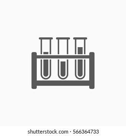 test tube icon, laboratory vector, test tube rack