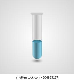 Test tube icon. Vector illustration.