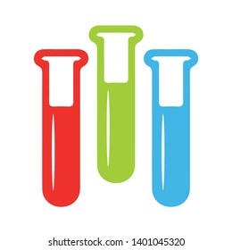 Test tube vector icon. Flask filled flat sign for mobile concept and web design. Laboratory glass glyph icon. Symbol, logo illustration. Pixel perfect vector graphics