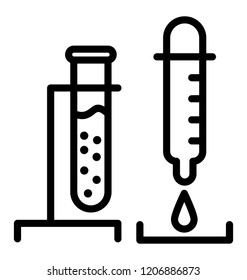 Test tubes icon design for laboratory research concept