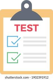 test vector flat colour icon