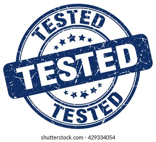 tested. stamp