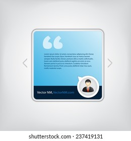 Testimonial Square Box Square Profile Picture Frame with Texture Background, high quality vector EPS10