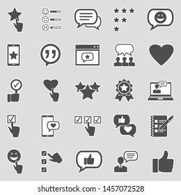 Testimonials Icons. Sticker Design. Vector Illustration.
