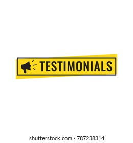 Testimonials. Vector flat illustration on white background.
