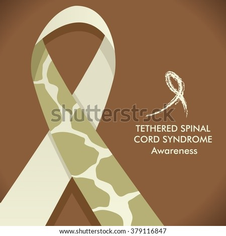 tethered spinal cord syndrome awareness giraffe print ribbon - Tethered Spinal Cord