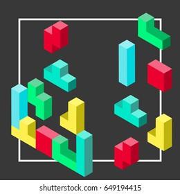 Tetris isometric
