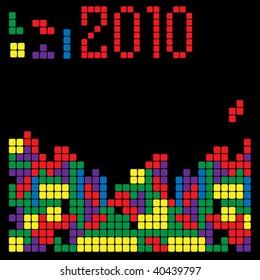 tetris vector concept for new year