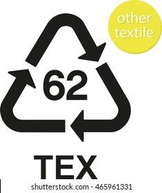 TEX other textiles recycling code