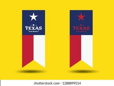 Texas Flag Design. Vector EPS 10.