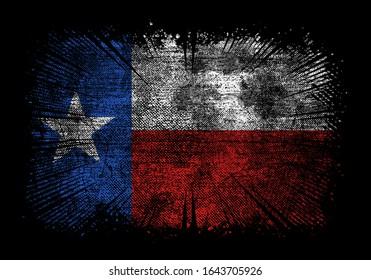 Texas flag grunge vector design