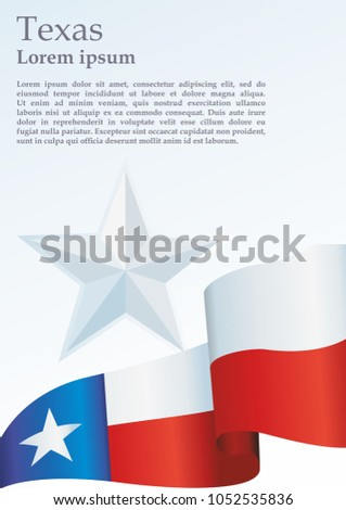 texas flag template award official document stock vector royalty