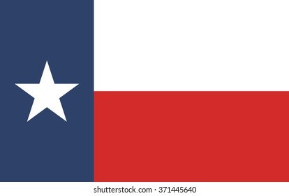 Texas Flag. Vector