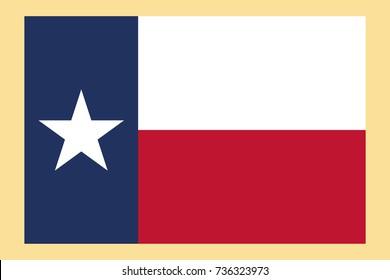 Texas flag vector.