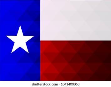 Texas Flag vector illustration. Texas Flag. National Flag of Texas. Mosaic flag. Vector