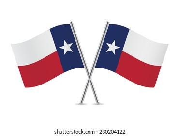 Texas flags. Vector illustration.