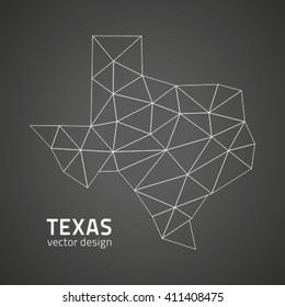 Texas grey vector outline map