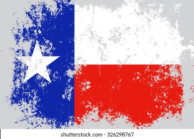 Texas grunge,damaged,scratch,old style state flag.