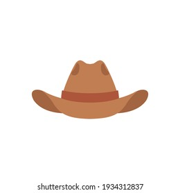 Texas hat. Vector illustration in flat style
