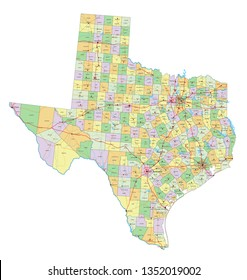 Map Texas Towns On Images, Stock Photos & Vectors | Shutterstock