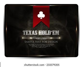 Texas hold em-card design