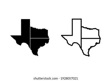 Texas icon set. texas sign symbol