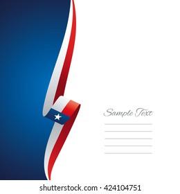 Texas left side brochure cover vector