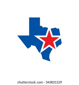 texas logo vector. lone star of texas logo vector.