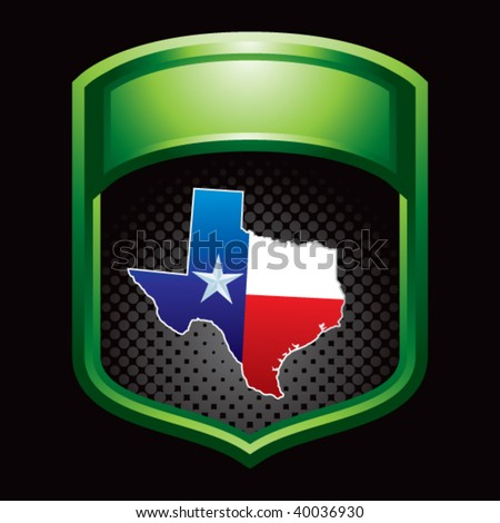 Texas Lonestar State On Green Display Stock Vector (Royalty Free