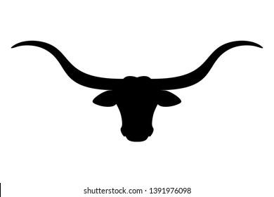 Texas Longhorn cattle head icon