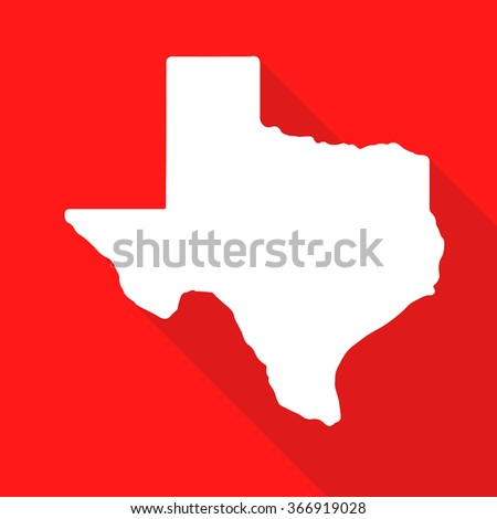 Texas Map Flat Simple Style Long Stock Vector Royalty Free