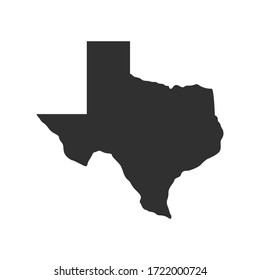 Texas map icon isolated on white background. Vector illustration