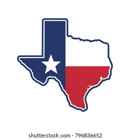 texas map. texas icon. texas symbol. logo vector.