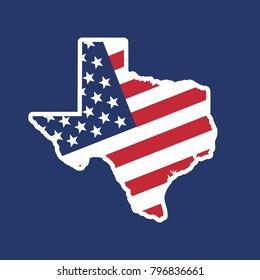 texas map. texas icon. texas symbol. logo vector.