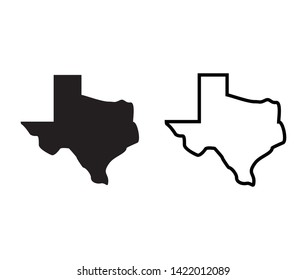 Texas Map Icon, Texas vector