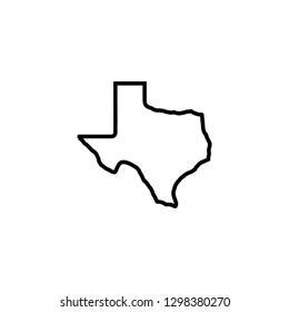 texas map icon vector illustration