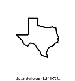 Texas Map Icon vector. symbol for web site Computer and mobile vector.