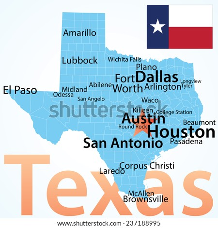 Map Of Texas Big Cities.Map Of Texas Largest Cities Twitterleesclub