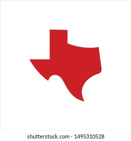 Texas map Logo. Texas Symbol. Icon Vector Eps 10.