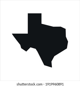 texas map logo vector. design template, vector illustration.