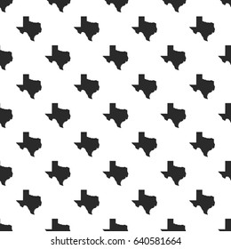 Texas map seamless pattern, isolated on white background. Vector illustration, easy to edit.