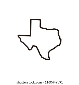 Bilder Stockfoton Och Vektorer Med Outline Of Texas Shutterstock