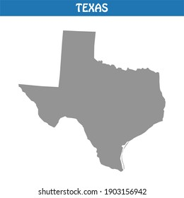 Texas Map Vector - Editable maps