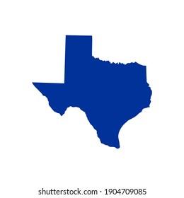 Texas map vector logo creative idea modern simple