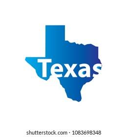 texas map vector template